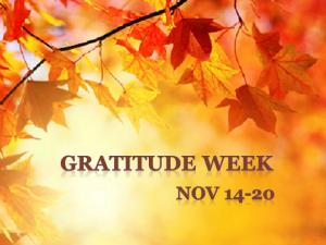 Gratitude Week 2012