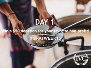 Gratitude Week: Day 1 Giveaway