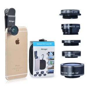 18 Gift Ideas: Men Who Travel Will Love These - Camera Lens Kit for Smartphones