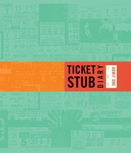 valentines day gift ticket stub diary